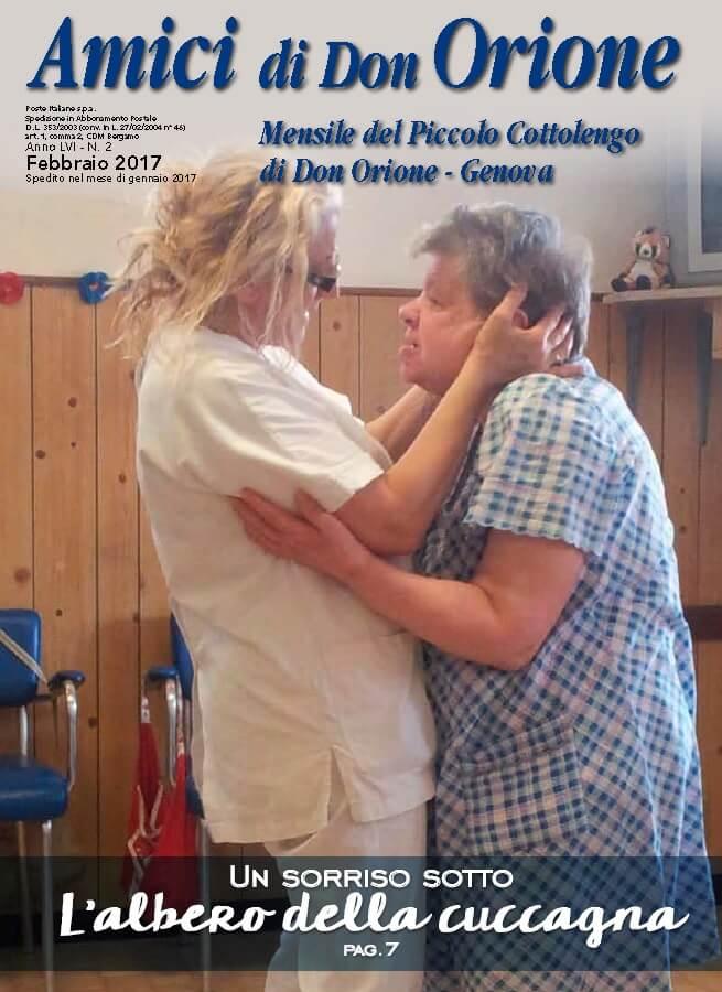 Giornalino di febbraio 2017 del Piccolo Cottolengo Genovese