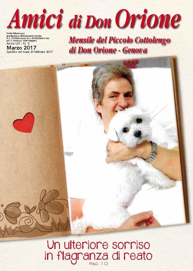 Giornalino di marzo 2017 del Piccolo Cottolengo Genovese