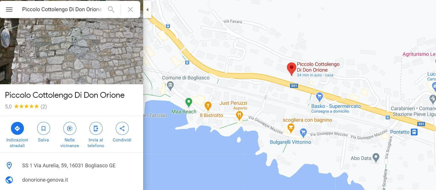 Bogliasco map