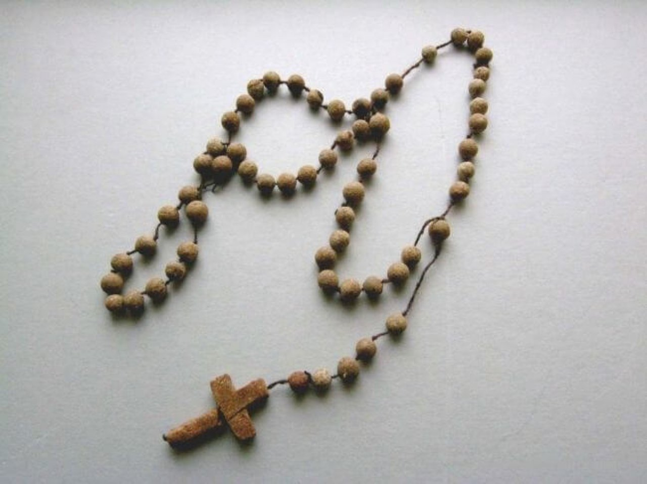 Rosary made of bread in Auschwitz by a prisoner Franciszka Studzińsk